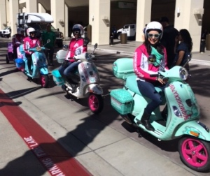 Free Vespa rides from BOOMCHICKAPOP. This. Is. Awesome.