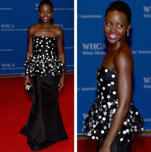 Lupita Nyong'o at the White House Correspondents Dinner